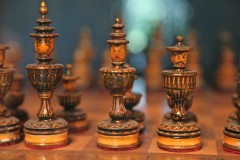 Royal family: A chess set, given to Josef Stalin by Chinese dignitaries, on display in the Stalin museum in Gori, Georgia. (2010)