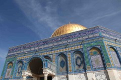 The Dome of the Rock mosque -- a holy site for both Muslims and Jews, who refer to the place as the Temple Mount. (2010)