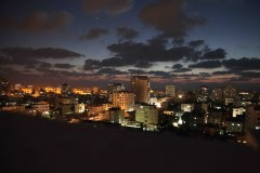 Gaza city at night. (2010)