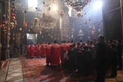 We gather together: Armenian bishops, priests and altar boys perform a service in the Church of St. James in Jerusalem's Old City. (2010)