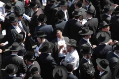 Pray for the souls: Ultra-orthodox Jewish men protest a Supreme Court ruling ordering the integration of girls' schools in West Bank settlements in downtown Jerusalem. (2010)