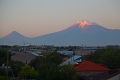 A morning view of Mt. Ararat from Yerevan, Armenia. (2010)