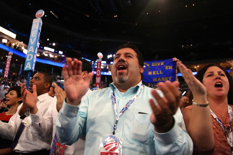 Andres Ramirez cheers on Sen. Harry Reid at the Democratic National Convention in Charlotte, N.C. (2012)